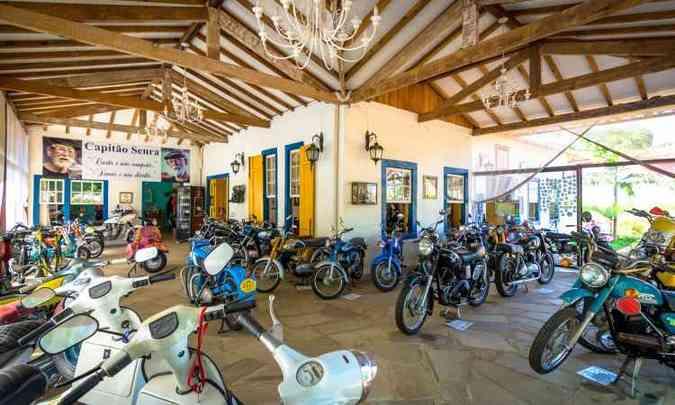 O Museu da Moto abriga 83 modelos distribuídos em uma área de 2.800 metros quadrados(foto: Rômulo Provetti/Divulgação)