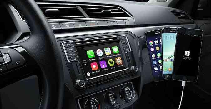 Compacto terá recursos avançados de conexão de mídia (foto: Volkswagen/Divulgação)