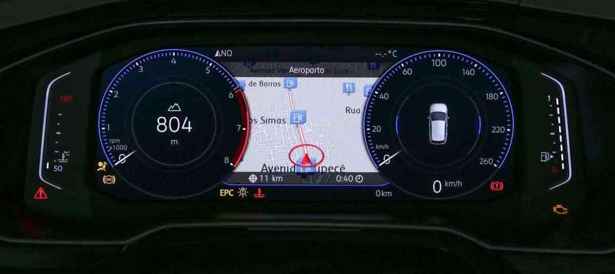 Painel 100% digital do Novo Polo  - Volkswagen/ Divulgação