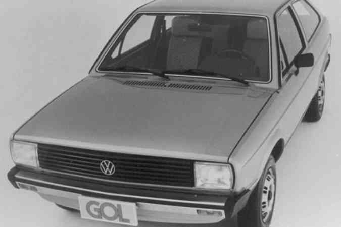 A primeira versão do Gol foi lançada em 1980(foto: Volkswagen/Divulgação)
