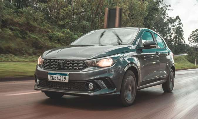 Em maio, o Fiat Argo foi o modelo mais vendido no mercado brasileiro, superando até a picape Strada(foto: Jorge Lopes/EM/D.A Press)