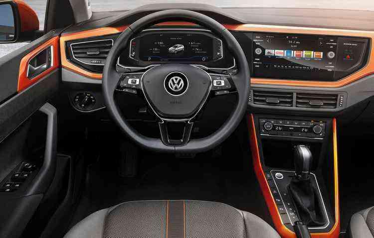 A parte interna do veículo recebeu um painel com acabamento na cor da carroceria, porém esse equipamento não é oferecido de série - Volkswagen/Divulgação