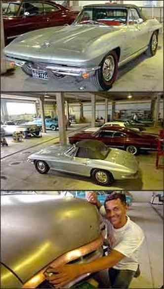 Proprietário gastou cerca de R$ 80 mil para deixar como nova a Corvette Sting Ray. Valdeir é um artista na recuperação das carrocerias