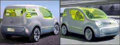 Desenho foi baseado no multiuso Kangoo be bop, com linhas suavemente arredondadas - Fotos: Renault/Divulgação