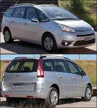 CitroënC4 Picasso tem lanternas estilizadas no alto da coluna(foto: Marlos Ney Vidal/EM/D.A Press - 5/6/08)