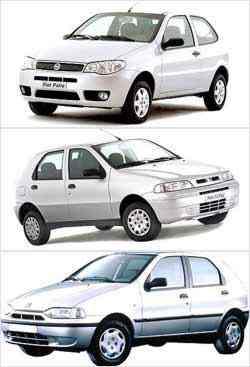 Terceira geração do modelo (superior) é considerada uma das mais bem resolvidas em estilo. Hatchback compacto da Fiat foi lançado em 1996 (abaixo), sendo reestilizado quatro anos depois (meio) -