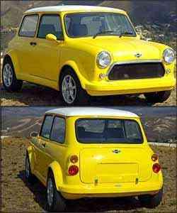 Trata-se de cópia fiel do pequeno automóvel inglês dos anos 60, que tem formas arredondadas, curta distância entre-eixos e rodas aro 13. Na traseira, foram adaptadas lanternas redondas menores - Fotos: Jair Amaral/EM - 03/10/07