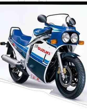 A GSX-R 750 sw 1.985 é considerada a primeira race réplica(foto: Suzuki/Divulgação)