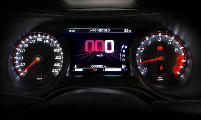 Versão HGT tem display de 7 polegadas no painel de instrumentos(foto: Fiat/Divulgação)