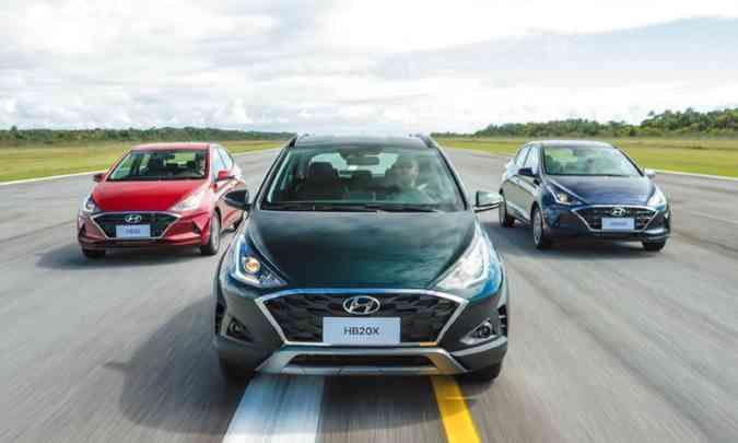 A Hyundai fez modificações no visual do HB20, mas o resultado não agradou muito os admiradores do modelo(foto: Hyundai/Divulgação)