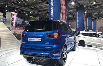 Ford exibiu EcoSport sem o estepe na tampa traseira(foto: Jorge Moraes / DP)