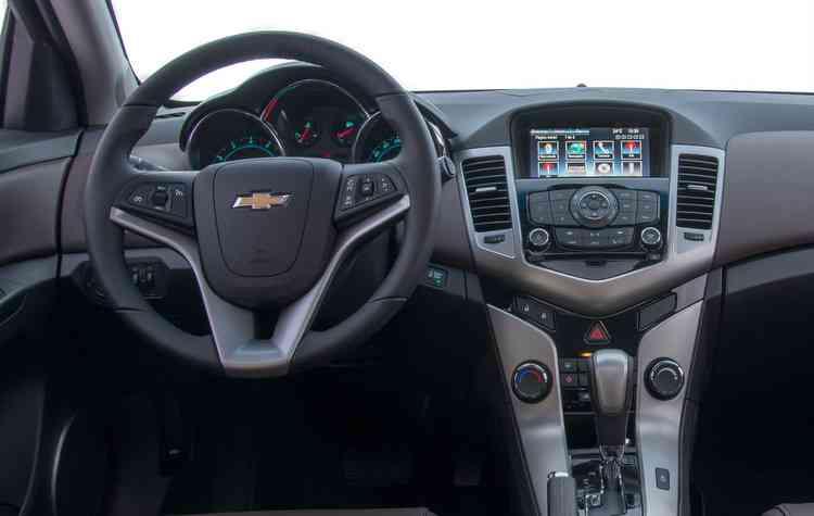 Central multimídia é um item de série no Cruze. Foto: Chevrolet / Divulgação -