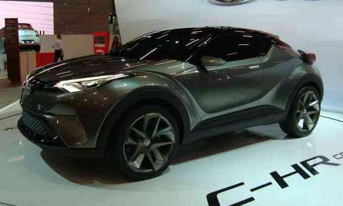 Outro 'conceito' já lançado no exterior é o Toyota C-HR(foto: Bruno Freitas/EM/D.A Press)