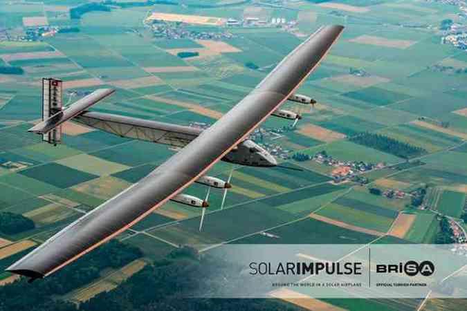 17 mil células solares captam a energia e alimentam as baterias da aeronave(foto: Solar Impulse/Divulgação)