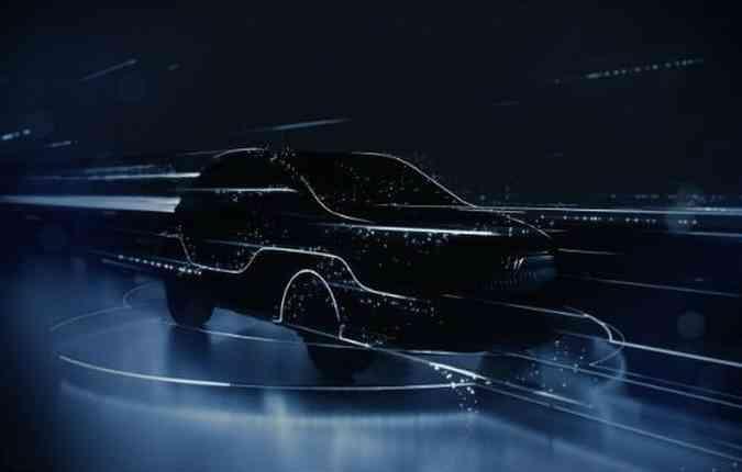 Teaser do Kona elétrico(foto: Hyundai/ Divulgação)