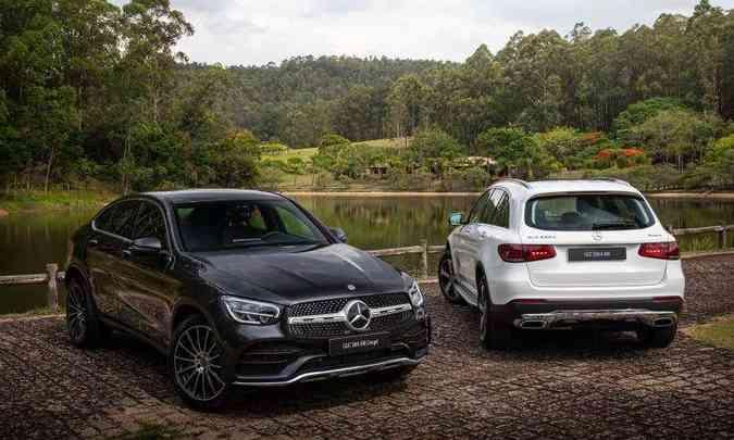 O Coupé tem estilo mais esportivo, enquanto o SUV preserva as linhas mais comportadas(foto: Estúdio Malagrine/Mercedes-Benz/Divulgação)