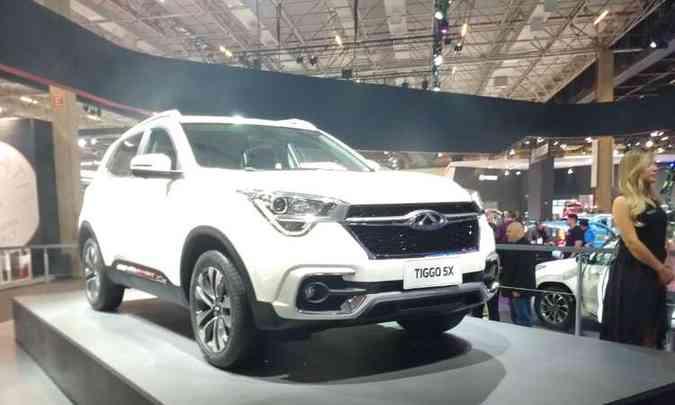 A Chery vai ampliar a linha de SUVs com o Tiggo 5x, que chega no próximo mês(foto: Pedro Cerqueira/EM/D.A Press)