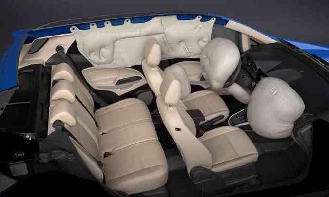 Sete airbags são de série(foto: Ford/Divulgação)