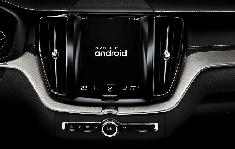 Carros da Volvo já terão disponíveis aplicativos como Google Maps. Foto: Volvo / Divulgação -