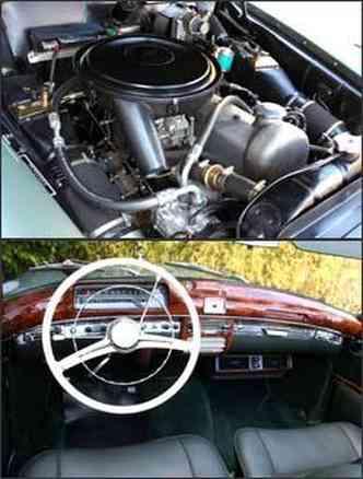 Motor de 110 cv garante bom desempenho. Já o painel tem acabamento em madeira e velocímetro horizontal, além de cromados.