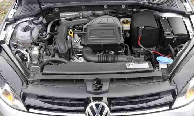Motor com injeção direta teve o turbocompressor redimensionado para gerar mais potência e torque(foto: Juarez Rodrigues/EM/D.A Press)