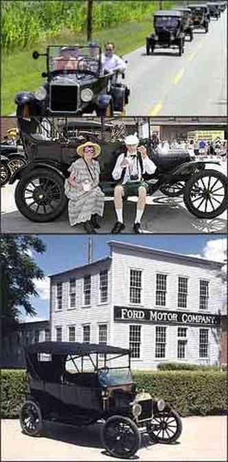 Carreata de Ford T, em Richmond, Indiana, com cerca de 1 mil modelos. Judy e Bill Konvalinka participam da festa em Richmond. Modelo é um dos mais representativos na história da marca(foto: Sam VarnHagen/Reuters - 25/7/08)