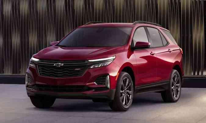Na linha 2022, o Chevrolet Equinox vai ganhar retoques no visual, como nessa versão RS(foto: Chevrolet/Divulgação)