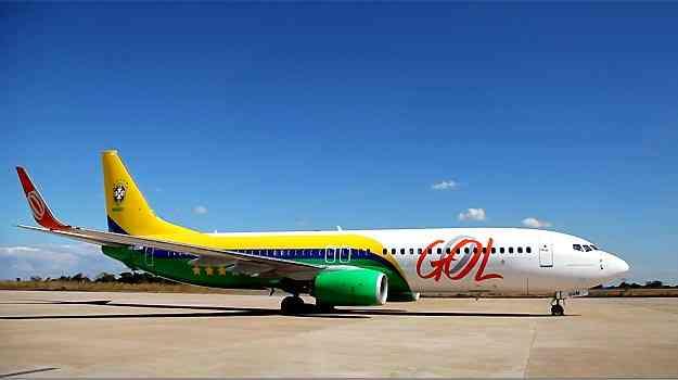Boeing 737-800 da Gol que foi usado pela Seleção na Copa das Confederações  - Gol/Divulgação