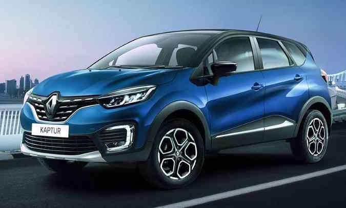 O Captur produzido no Brasil seguirá o mesmo estilo do Kaptur feito na Rússia(foto: Renault/Divulgação)