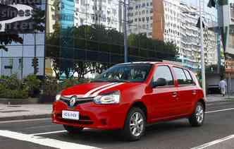 Renault Clio é o mais barato do Brasil(foto: Luiz Costa / La Imagem)