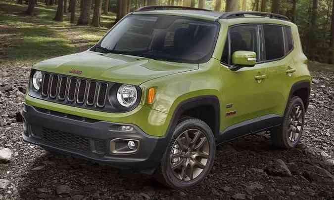 Também fabricado em Goiana (PE), Renegade recebeu verde mais claro(foto: Divulgação/Jeep)