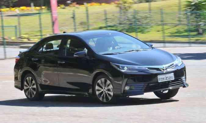 Toyota Corolla é o 10º automóvel mais vendido do país(foto: Jair Amaral/EM/D.A Press)