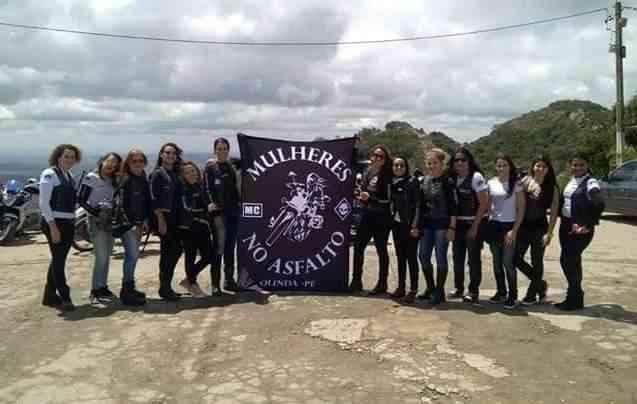 O moto clube Mulheres no Asfalto conta com 22 integrantes. Foto: Mulheres no Asfalto / Divulgação -