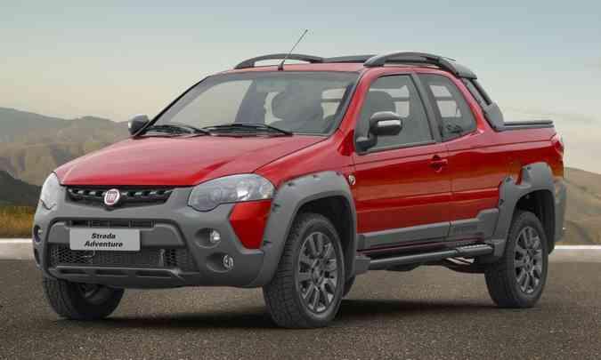 Há anos na liderança entre as picapes compactas, Fiat Strada já é projeto antigo, como as concorrentes(foto: Fiat/Divulgação)