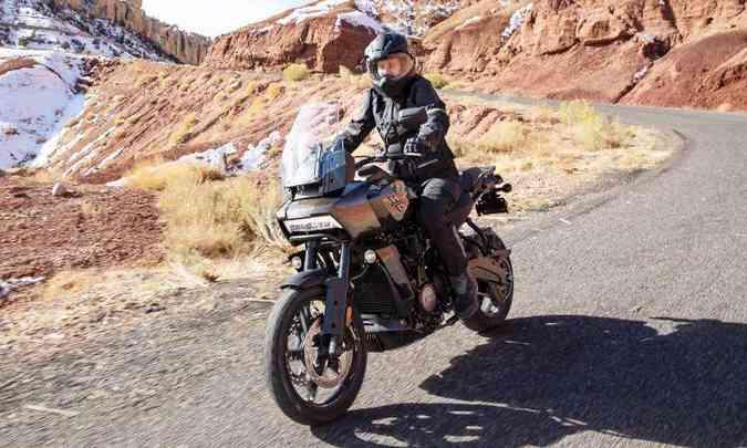A versão Standard tem quatro modos de pilotagem padrão: Road, Sport, Rain e Off-Road(foto: Harley-Davidson/Divulgação)