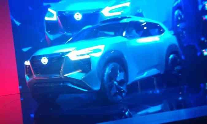 Conceito Nissan X Motion chama a atenção por suas linhas ousadas(foto: Pedro Cerqueira/EM/D.A Press)