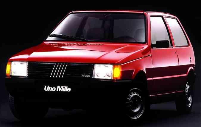 Uno Mille é o mais procurado entre os usados. Foto: Fiat / Divulgação