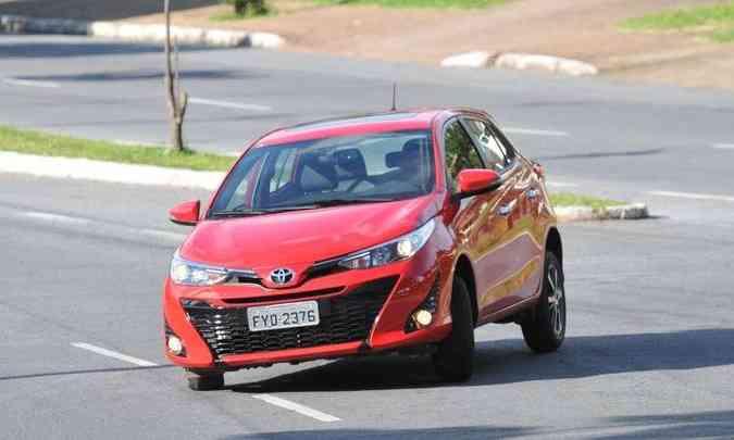 O hatch premium tem linhas mais modernas do que os outros modelos da marca(foto: Ramon Lisboa/EM/D.A Press)