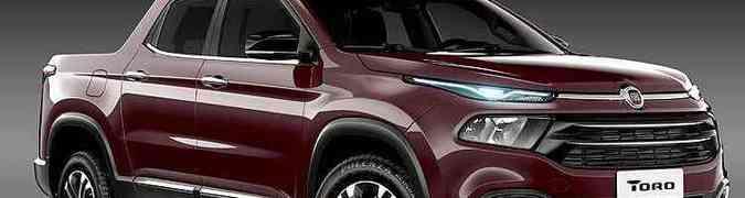 Fiat Toro tem nova imagem revelada. Picape chega em 2016(foto: Fiat/Divulgação)