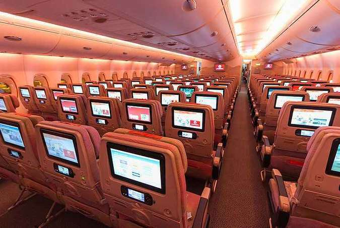 Tela multimídia com 2.000 canais e Wi-Fi gratuito para todos(foto: Rodrigo Cozzato/GRU Airport/Divulgação)