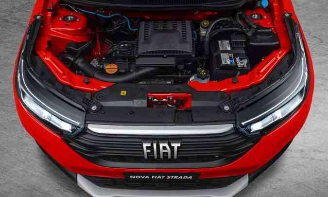 O motor 1.3 Firefly desenvolve potência máxima de 109cv com etanol(foto: Fiat/Divulgação)