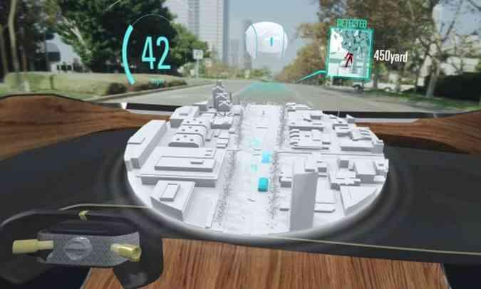 Nissan apresentou conceito Invisible-to-Visible (I2V) acoplado a um óculos de realidade aumentada(foto: Nissan/Divulgação)
