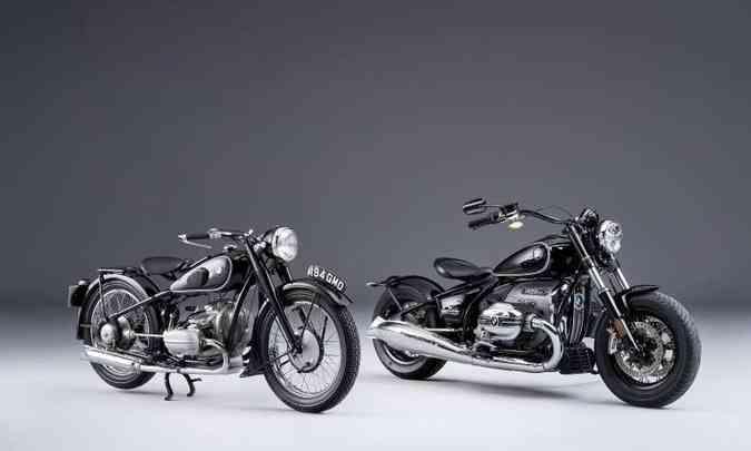 Lado a lado, a musa inspiradora, R5, e a gigante R18(foto: BMW/Divulgação)