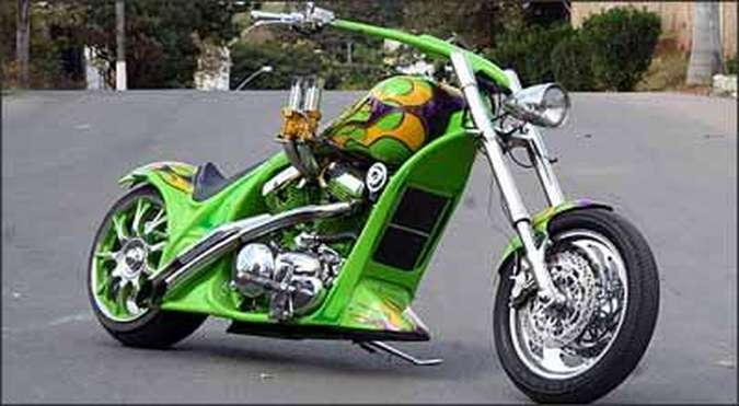Modelo Green tem enorme carburador em destaque(foto: Fotos: Marlos Ney Vidal/EM/D.A Press - 18/06/08)