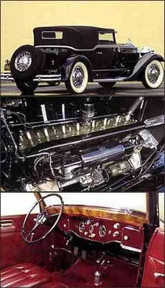 Modelo da década de 30 tem acabamento sofisticado e interior espaçoso, graças à grande distância entre-eixos, característica do encarroçador Waterhouse. Já o motor tem oito cilindros em linha
