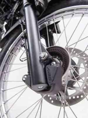 Freio dianteiro agora está equipado com sistema ABS - Gustavo Epifânio/Yamaha/Divulgação