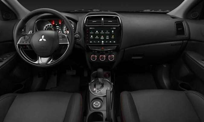 Painel do Outlander Sport Black Edition(foto: Mitsubishi/Divulgação)