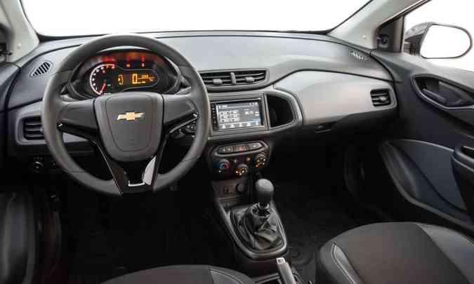 O sistema multimídia e o ajuste elétrico dos retrovisores são vendidos como acessórios(foto: Chevrolet/Divulgação)