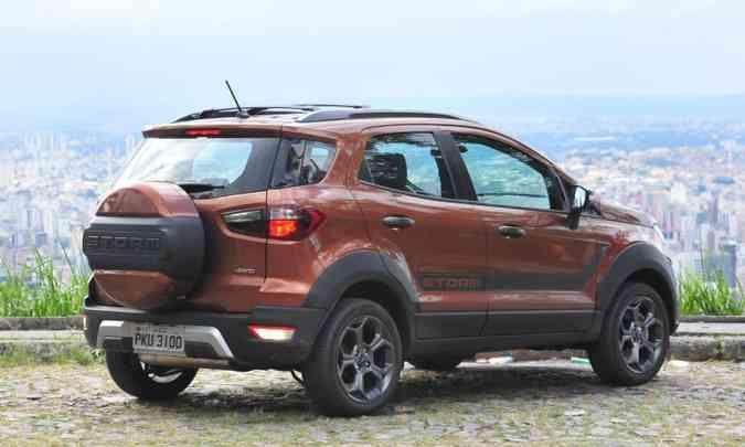 SUV de mochila: estepe na tampa traseira é uma 'assinatura' do modelo(foto: Gladyston Rodrigues/EM/D.A Press)