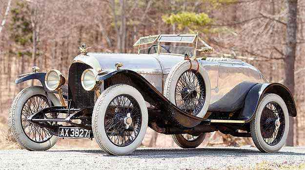 Bentley 3 litros 1921 é o mais antigo da marca e está à venda  - Gooding & Company/Divulgação